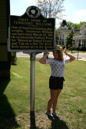 Photo taken in the historical Columbus, Mississippi at Tennesse Williams' first house!