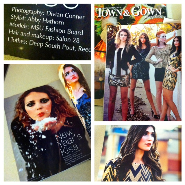 Check out the outfits I styled for the December issue of Town and Gown Magazine! I want every outfit for myself!