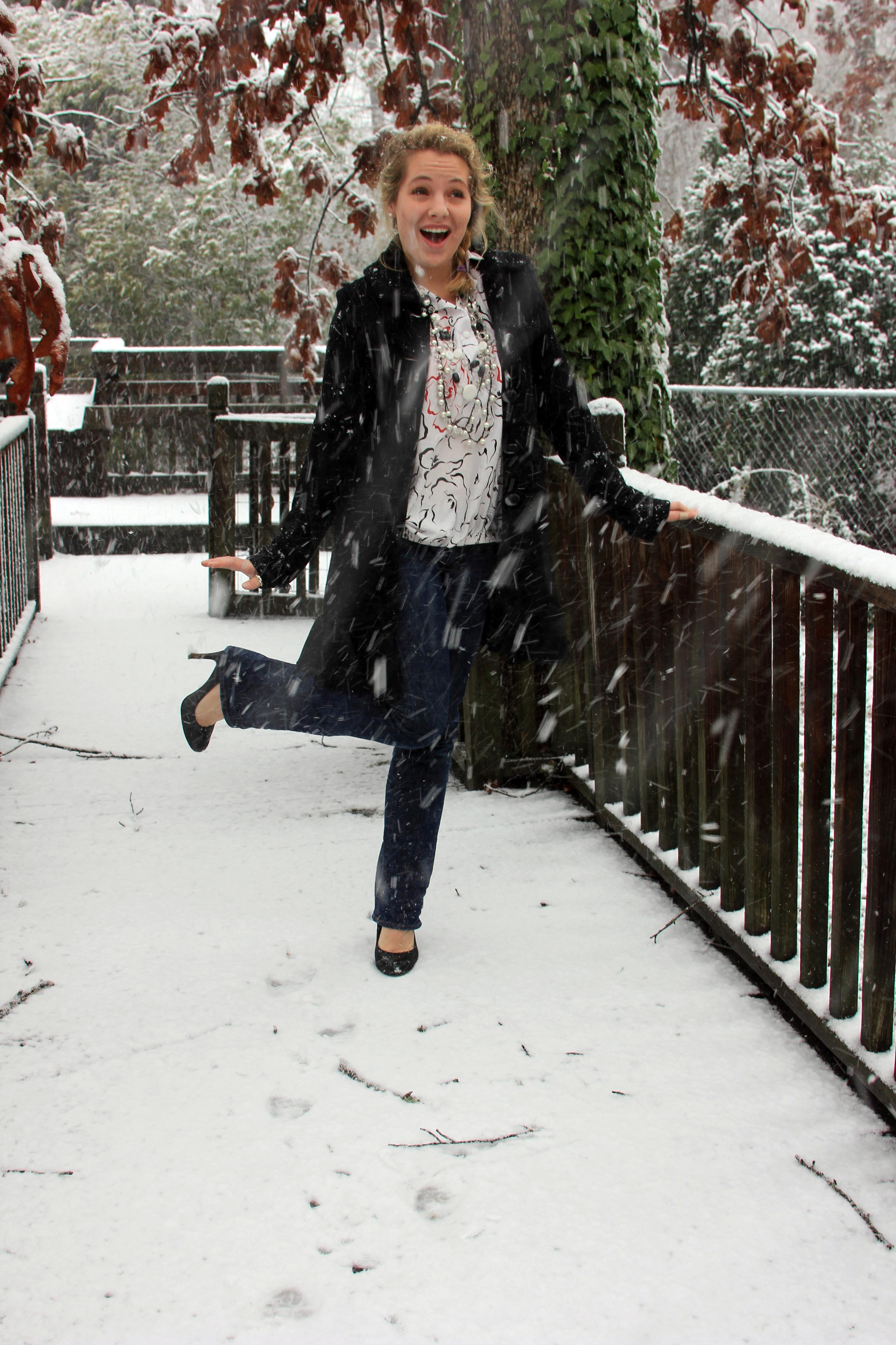 simply stylish in southern snow