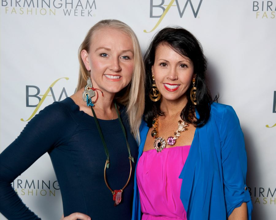 Heidi Elnora (on left) and Jeana Fleming (on right) at the BFW 2012 Kick Off party at Gus Mayer (Birmingham, Alabama location). PHOTO CREDIT: CHUCK ST. JOHN