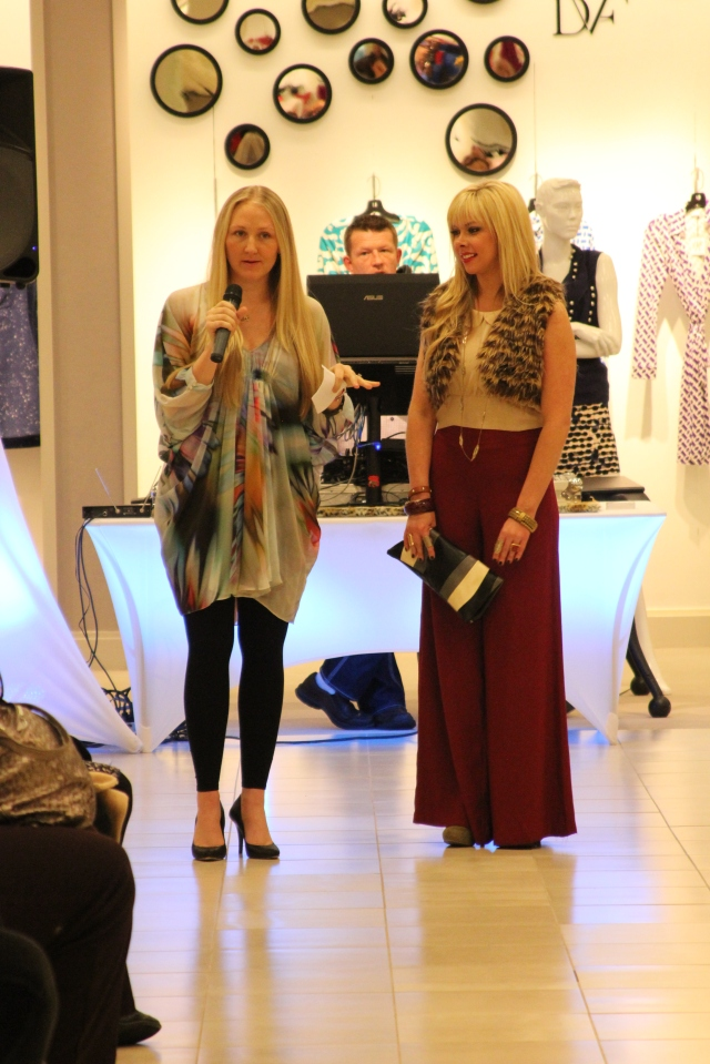 Heidi Elnora, co-founder of Birmingham Fashion Week, and Mandi Faulk at the Emerging Designers Reveal.