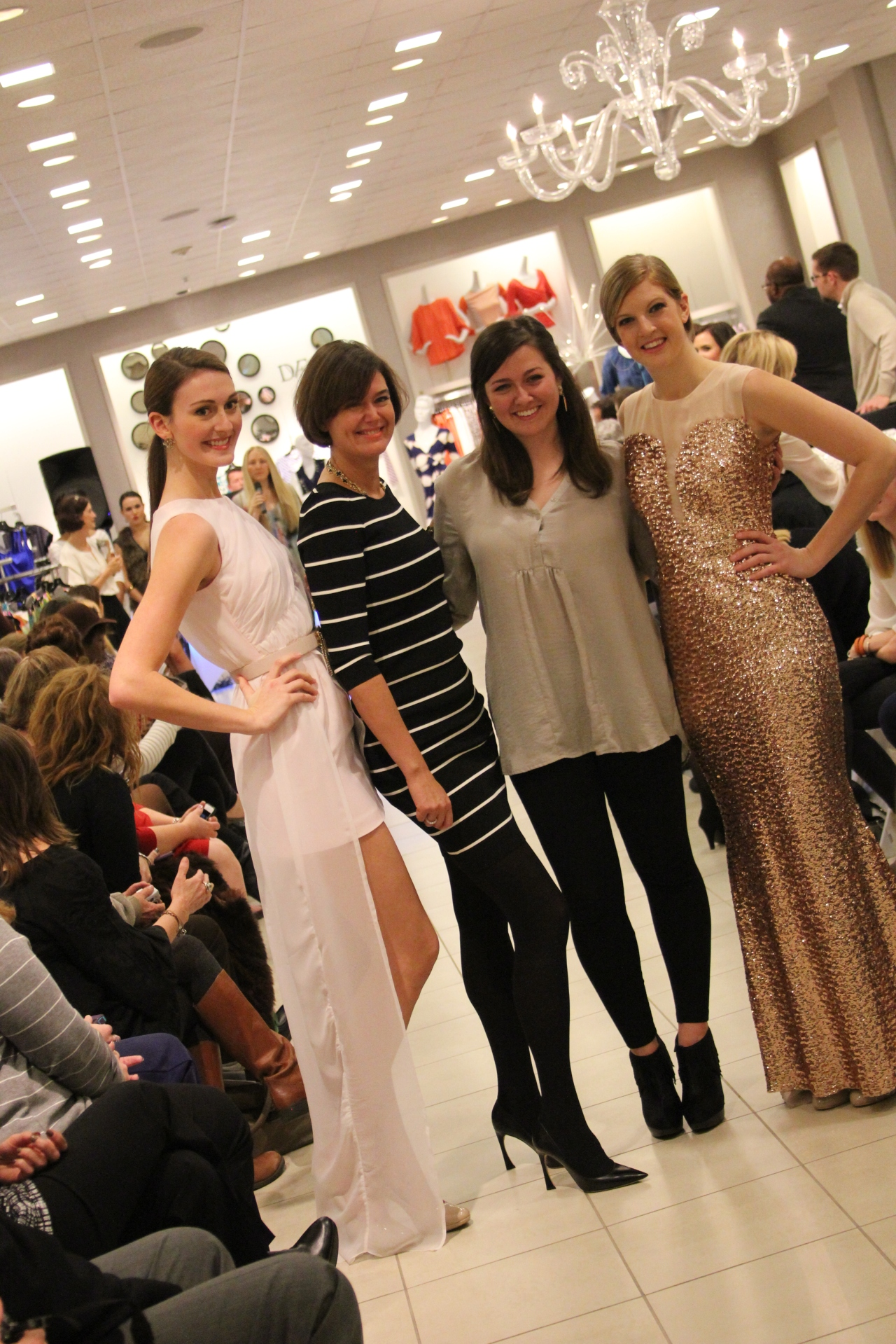 Pink Tartan posing with Megan Kaple and her designs. Everyone was so excited to have met Kimberley Newport-Mimran