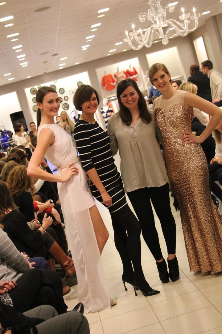 Pink Tartan posing with Megan Kaple and her designs. Everyone was so excited to have met Kimberley Newport-Mimran