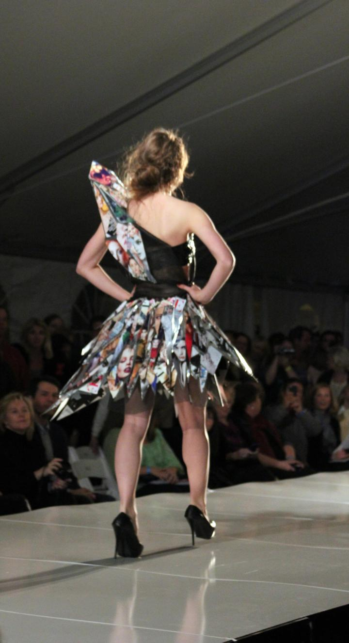 Don't you just adore this wearable art piece made from from aluminum siding! (designed and worn by Sarah Vallin age 17 of Hoover High School, Alabama)