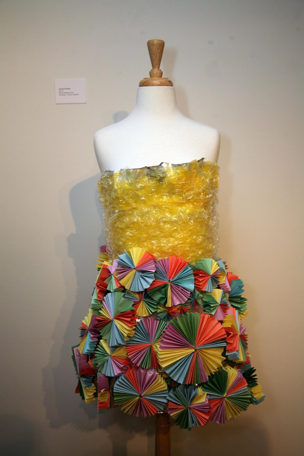 Rising Design Star, Jamesa Fletcher, designed this bright art piece that the VIP would adore to wear! What can I say...I am  sucker for bright colors!