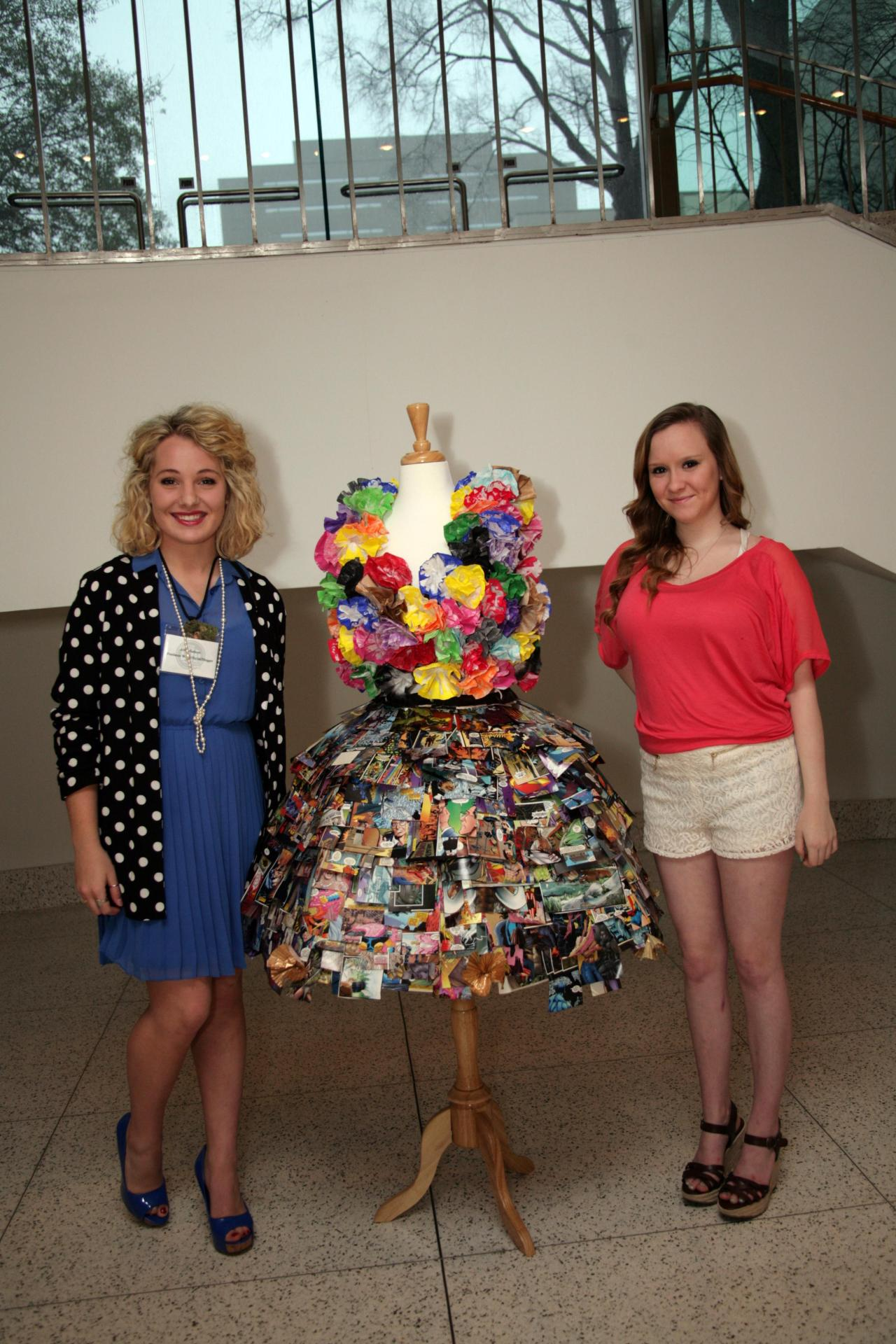 I say this dress designed by Erin Killian (age 15) is petal perfection!