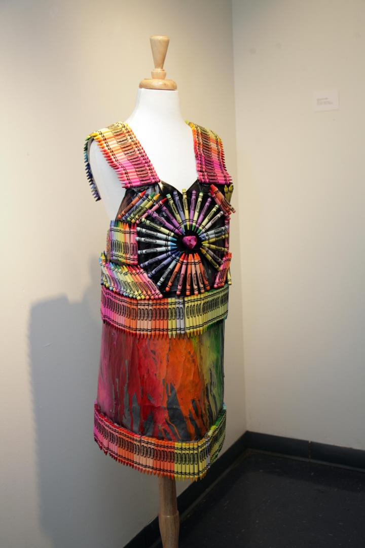 This color-tastic dress was designed by Cayla P. Sexton (age 12) of Pizitz Middle School.