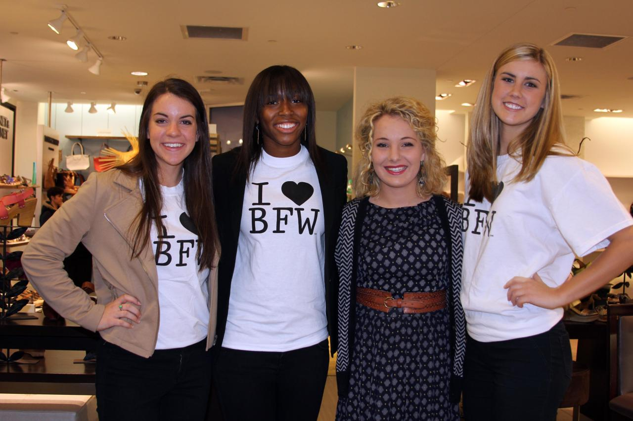 Getting to meet some of the models of BFW was super fun! They are all so glamorous!