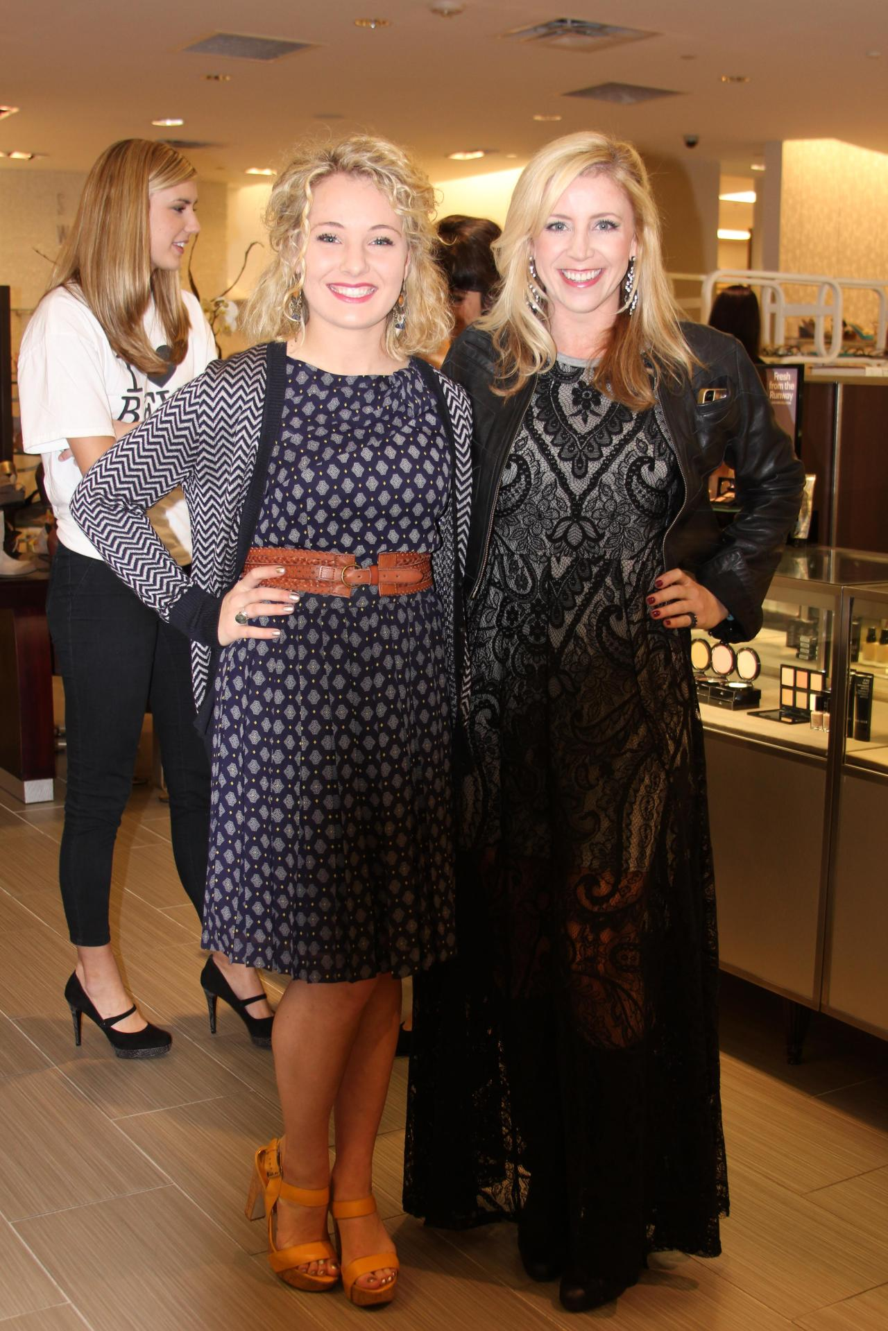 Krista Collins (principal of KC Projects) looked stunning in an all lace frock at the BFW Kick Off Party!