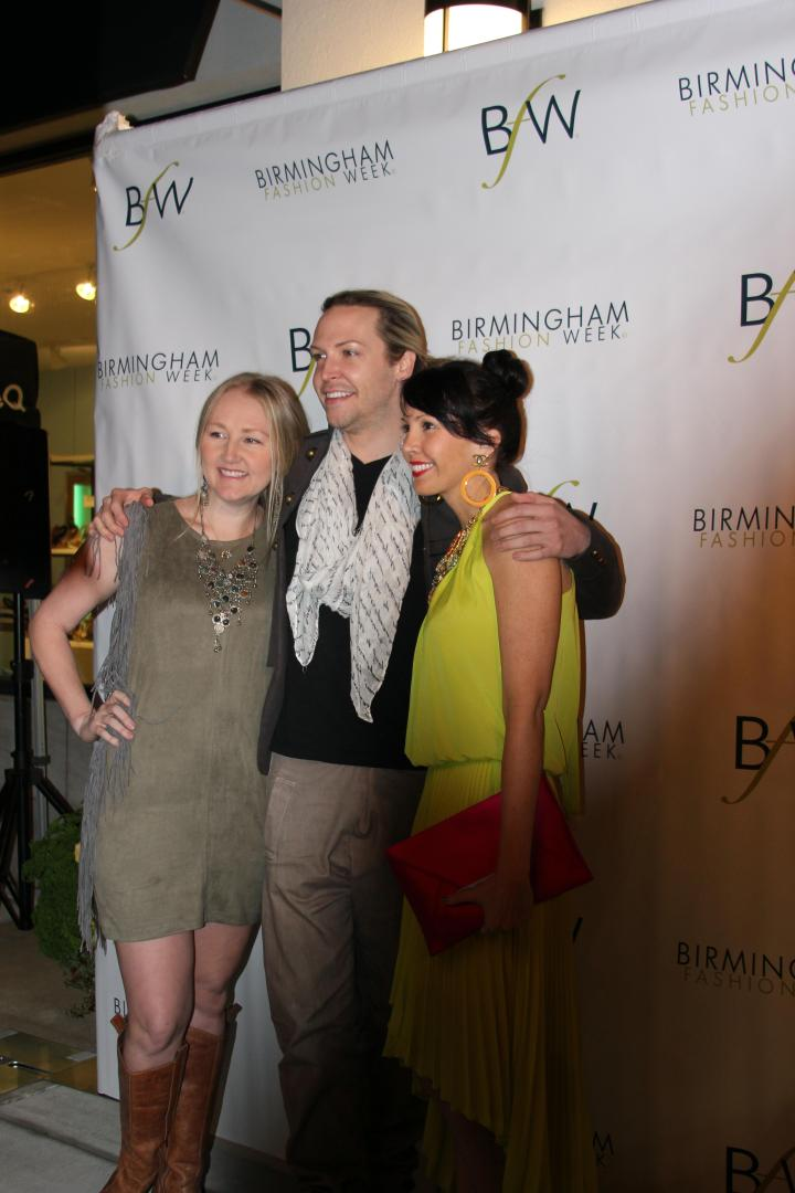 Heidi Elnora, Jeremy Stephens, and Jeana Fleming at the BFW 2013 Kick Off Party.
