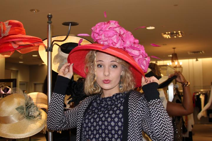 Having fun with statement hats at the 2013 BFW kick off party at Gus Mayer! I am thinking the VIP needs to take a shopping spree to Gus Mayer!