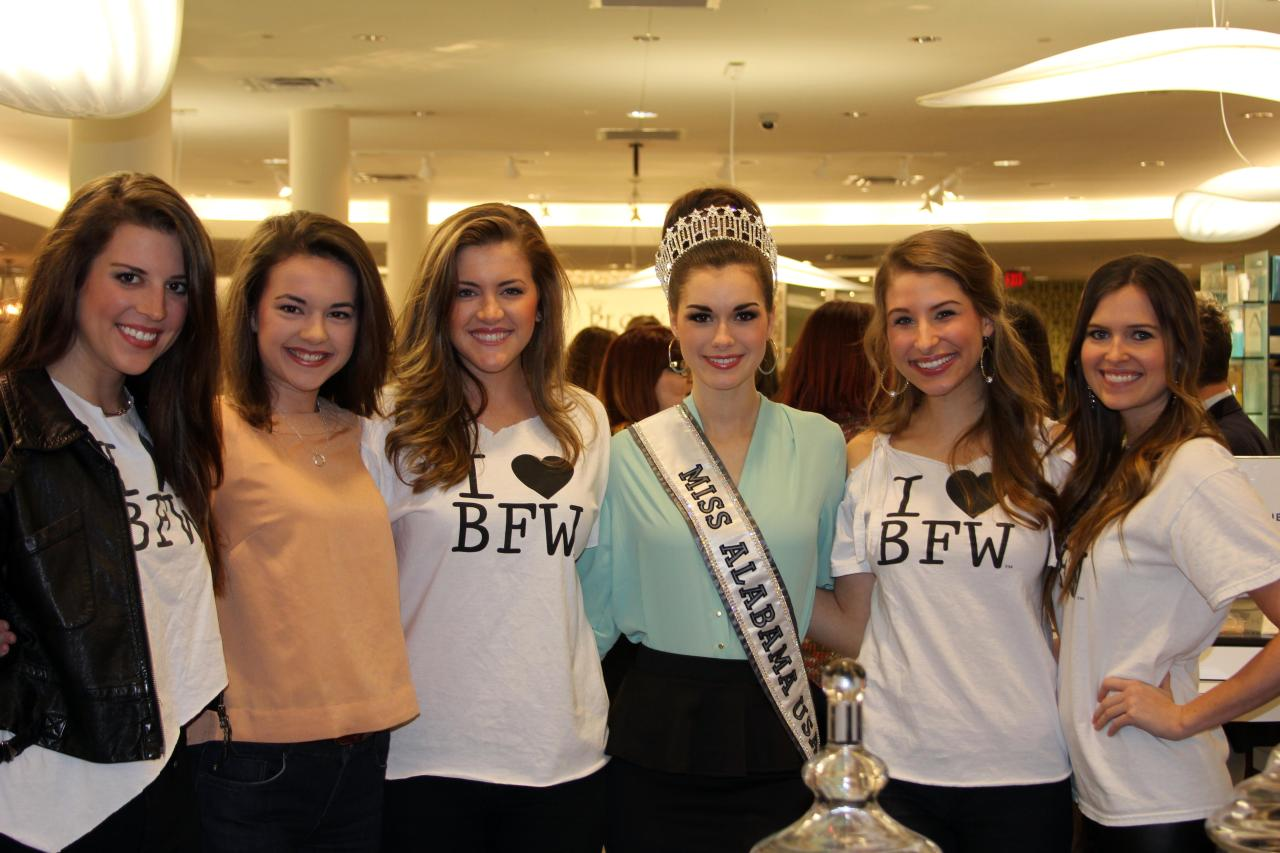 Spotted Mary-Margaret McCord, Miss Alabama USA, at the Birmingham Fashion Week Kick Off Party. Doesn't she look truly stunning posing with BFW models!