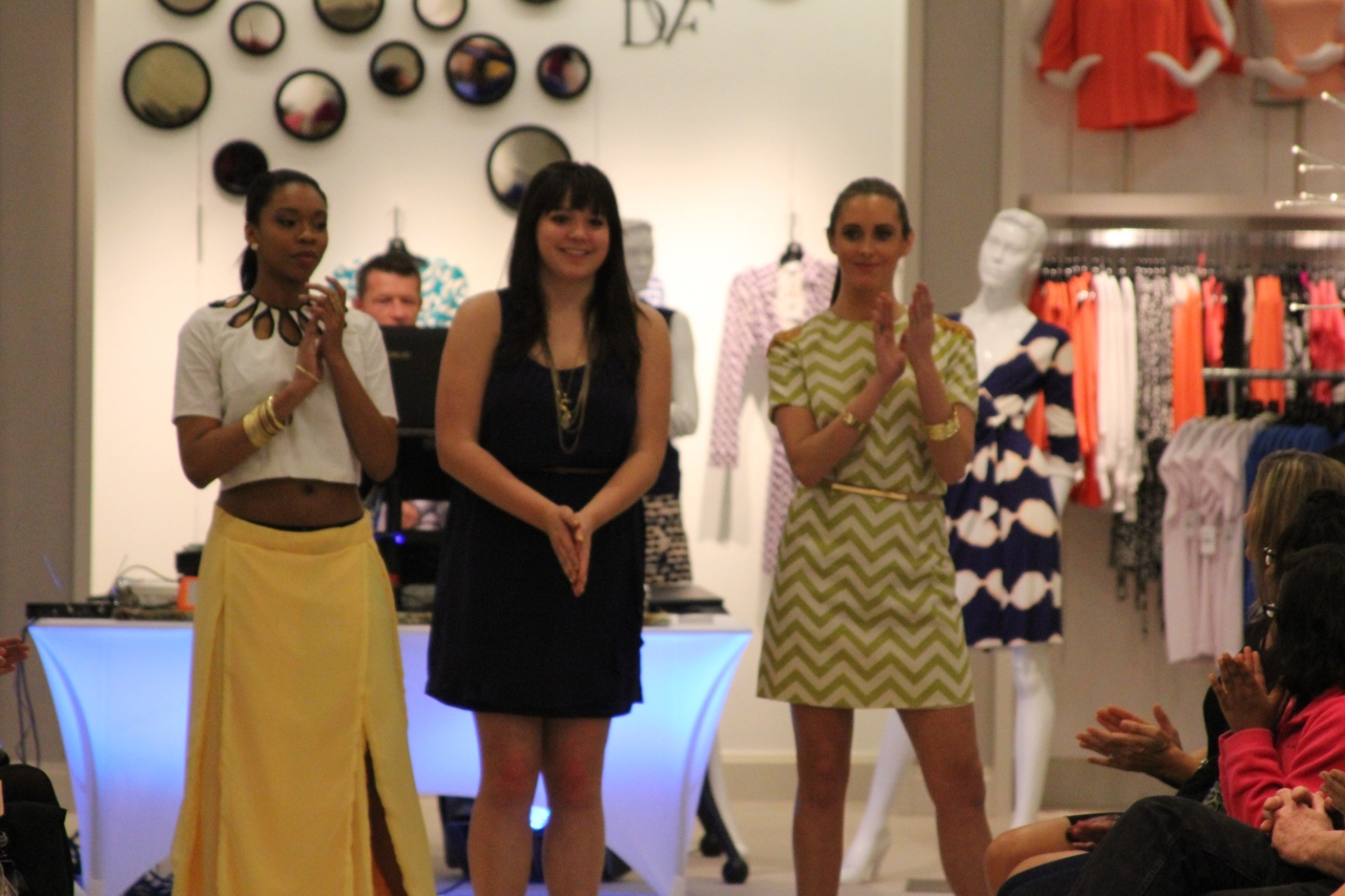 Claudia Gonzalez and her fabulous designs at the Saks event. Love the colors she chose!