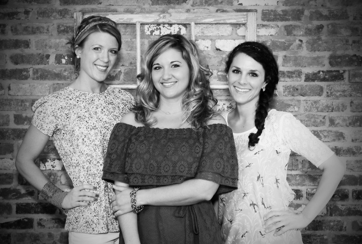 (From left to right) April Moore, Melissa Grimes, and Courtni Tyre, the fabulous designers behind Three07!PHOTO CREDIT TO DREW BOURKE PHOTO