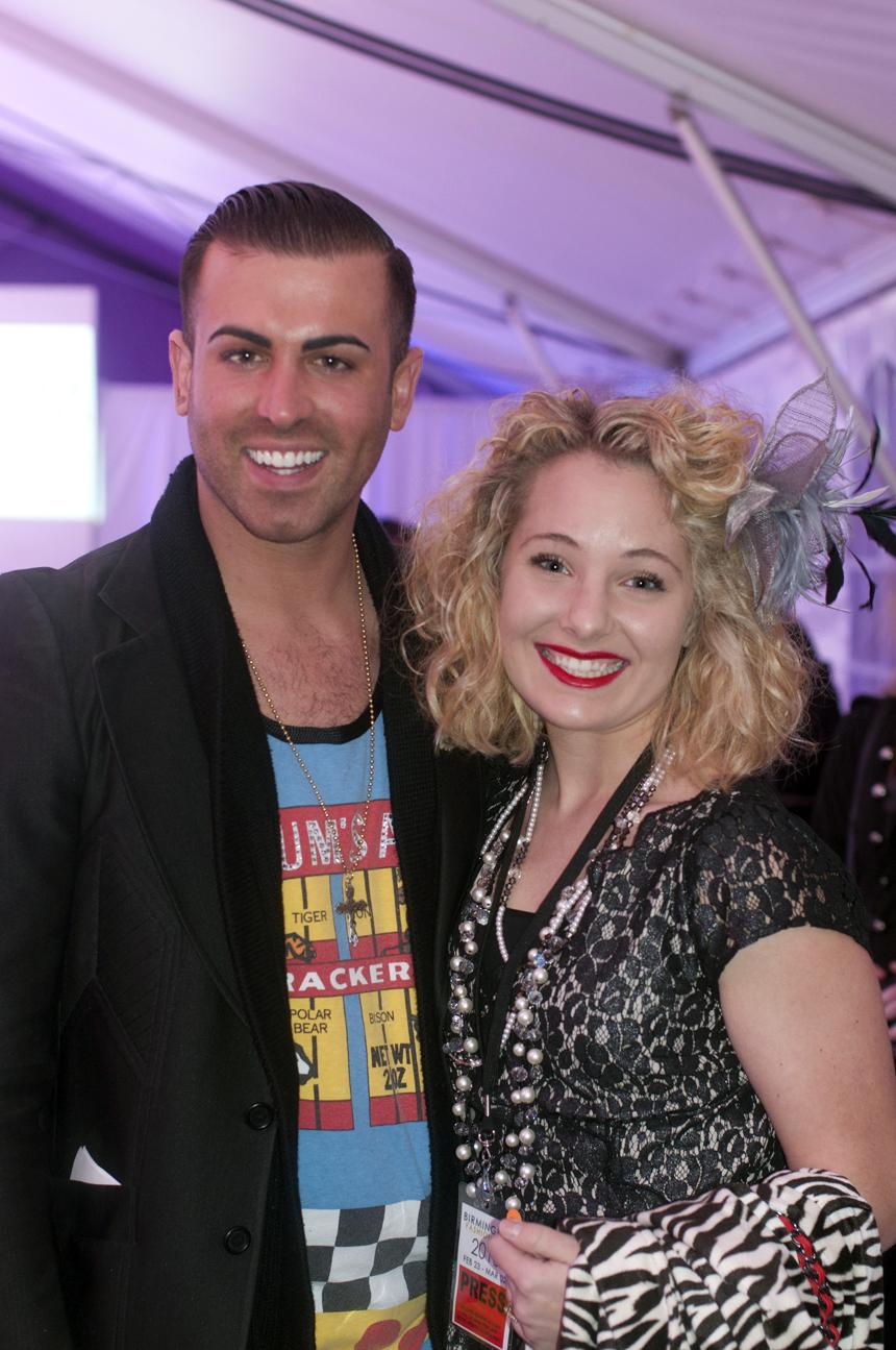 I was so flattered to meet Joshua McKinley at the Friday night BFW2013 Runway Show! He is such an amazing designer!Photo Credit: Divian Conner - Visual Artist
