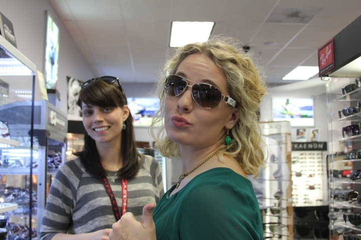 Laney Sherling (Sunglass Warehouse) was super sweet helping me find some awesome new sunglasses!