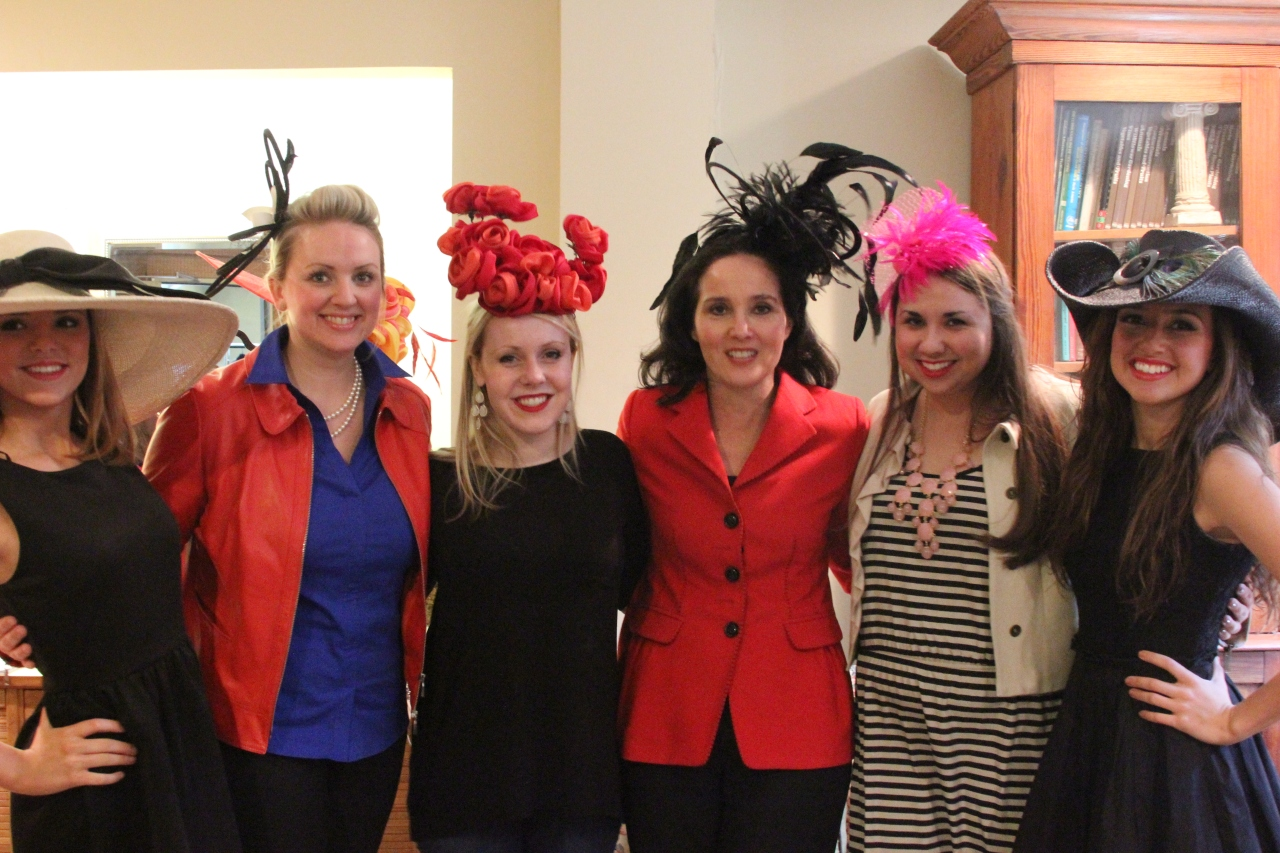 The wonderful Gus Mayer ladies and models of the day sporting tremendous hats by Christine A. Moore!