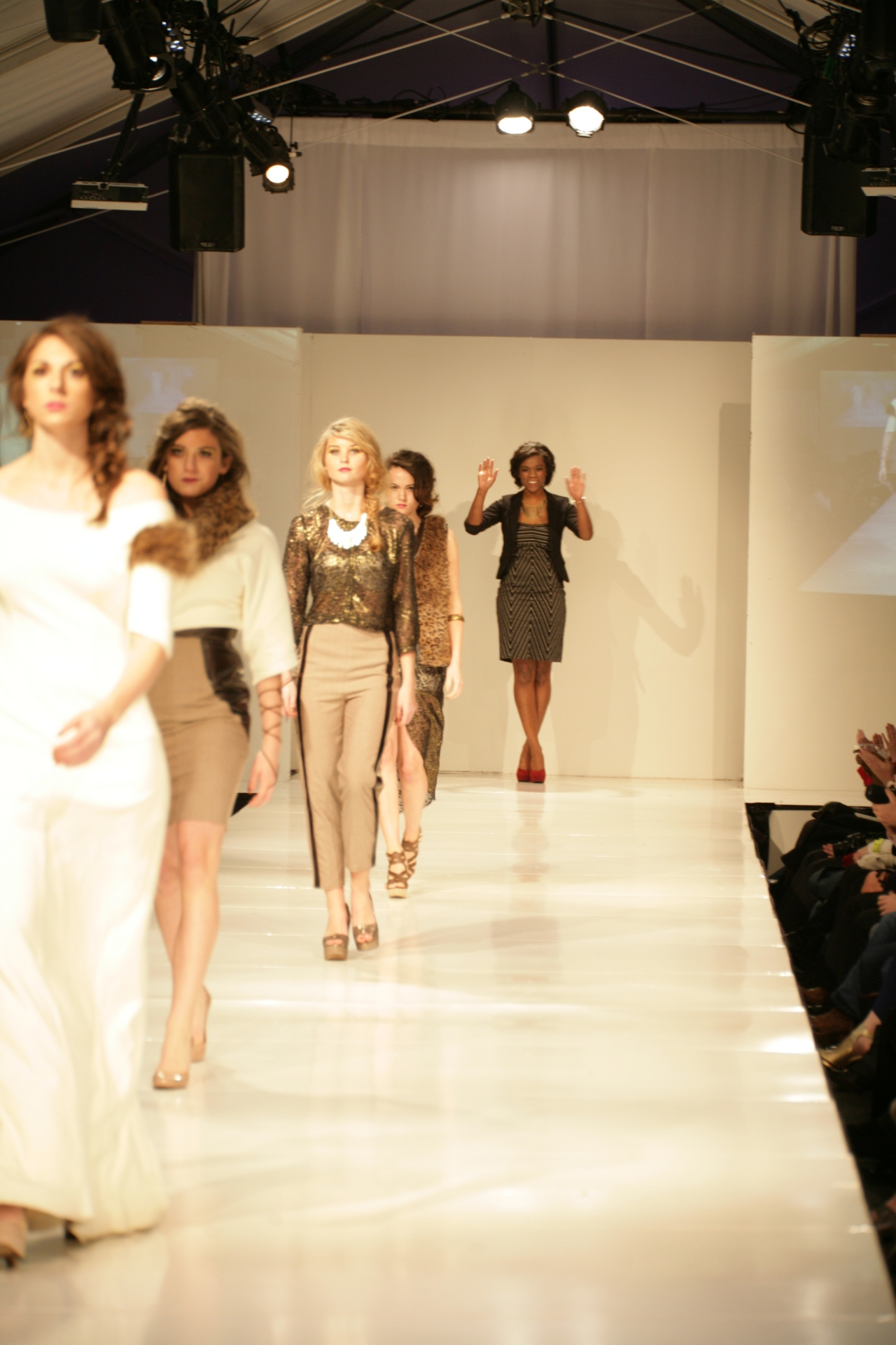 Elizabeth Singleton with her Collection | Birmingham Fashion Week 2013Photo Credit: Vintage Inspired Passionista
