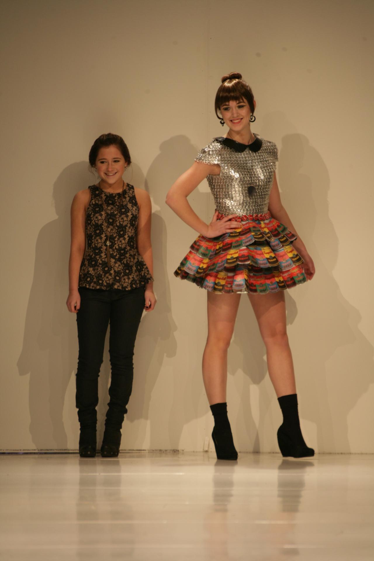 Annie Bloomston with her design | Birmingham Fashion Week 2013Photo Credit: Vintage Inspired Passionista