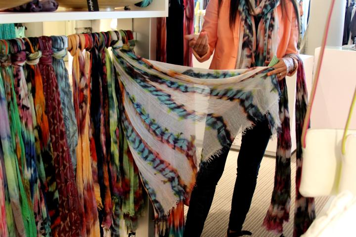 I absolutely ADORE Brightly Twisted scarves! Each scarf is hand dyed...it is truly wearable art!