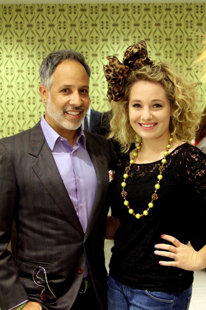 The VIP with fellow blogger Vincent Martinez of Fashionado! Don't we look ever so fabulous! http://fashionado.net/
