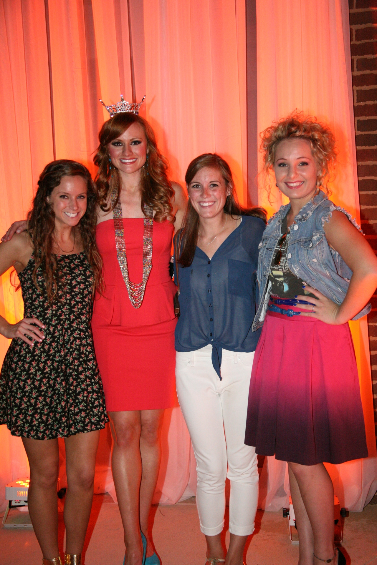 Miss Alabama 2012 winner, Anna Laura Bryan, Gus Mayer interns, and the VIP at the Sunset in Miami fashion show.
