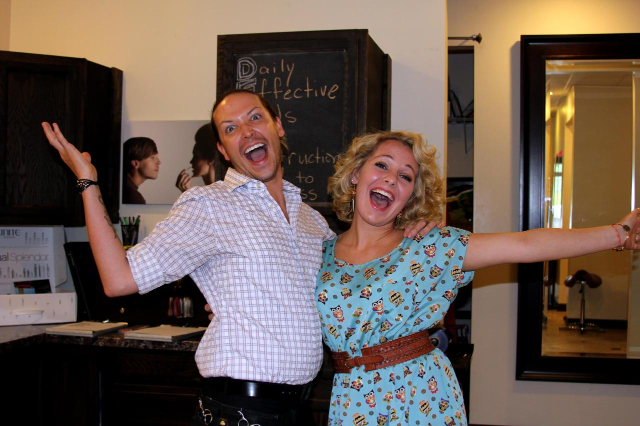 Jeremy Stephens and I having some fun at The Salon!