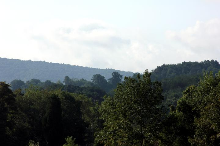 I took this picture outside our hotel in Abingdon, Virginia. The mountains were breathtaking!