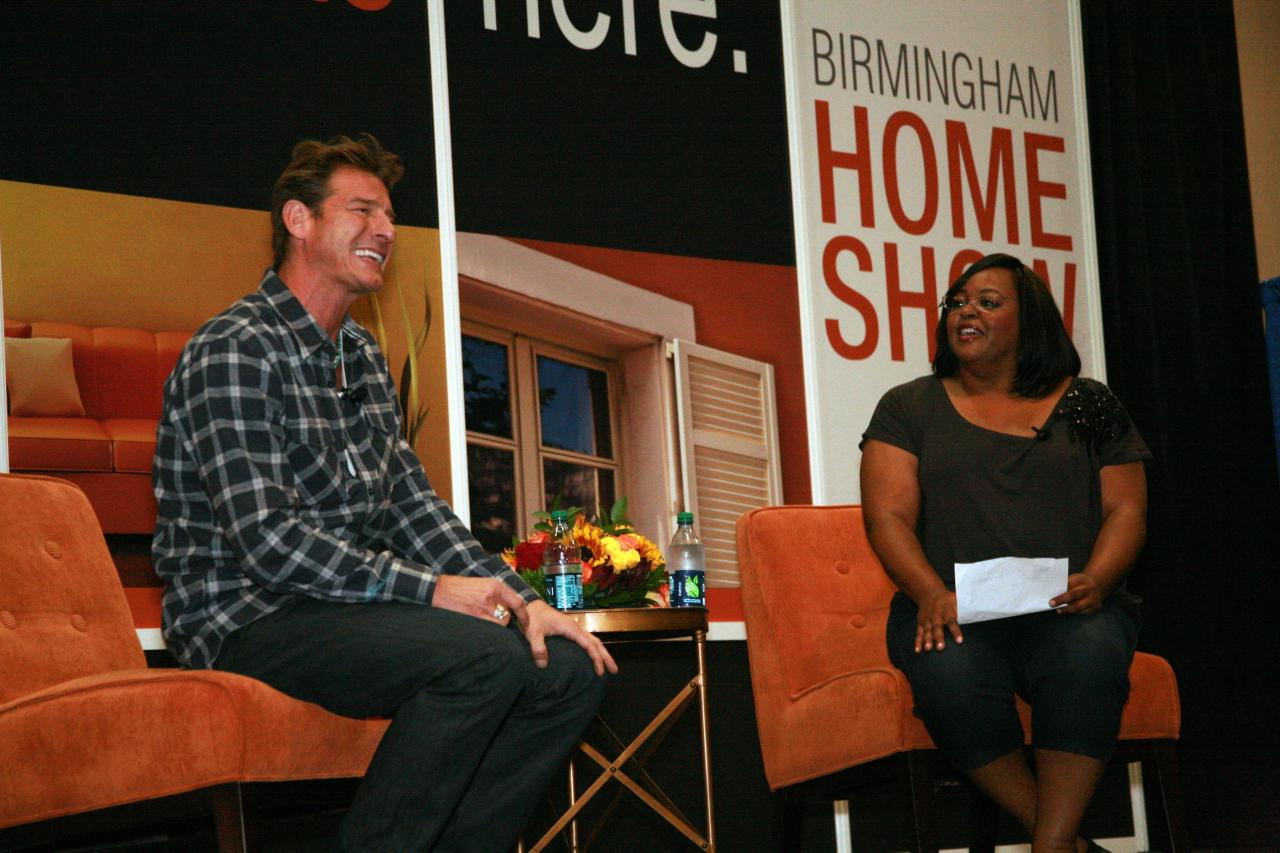 Ty Pennington on stage with