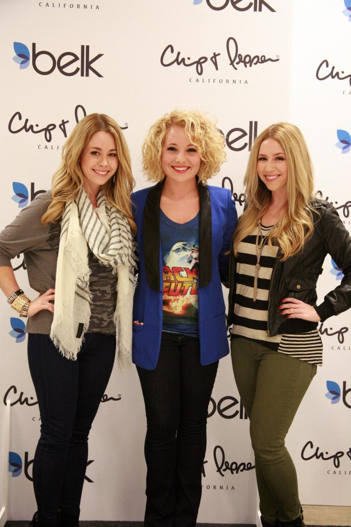 The VIP blogger with YouTubers Eleventh Gorgeous at Belk College Night.