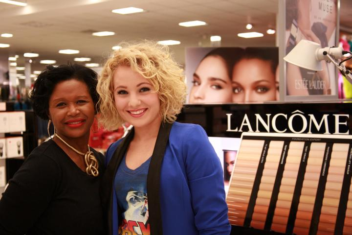 The VIP with Lancôme makeup artist Pam at Belk University Mall. Thanks so much, Pam, for making me look a little bit more fabulous with a makeup touch up! You are absolutely precious!