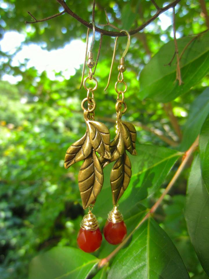 Ethereal Energy's Carnelian Briolette earrings that were featured on hit television series The Vampire Diaries.