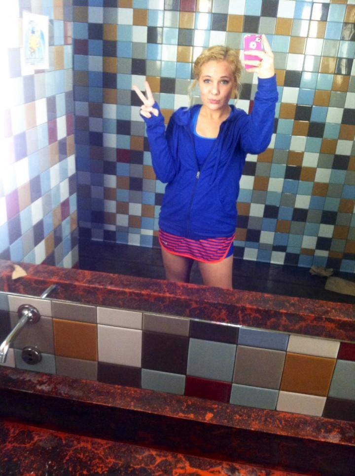 Shameless bathroom selfie at Mellow Mushroom in Bristol!