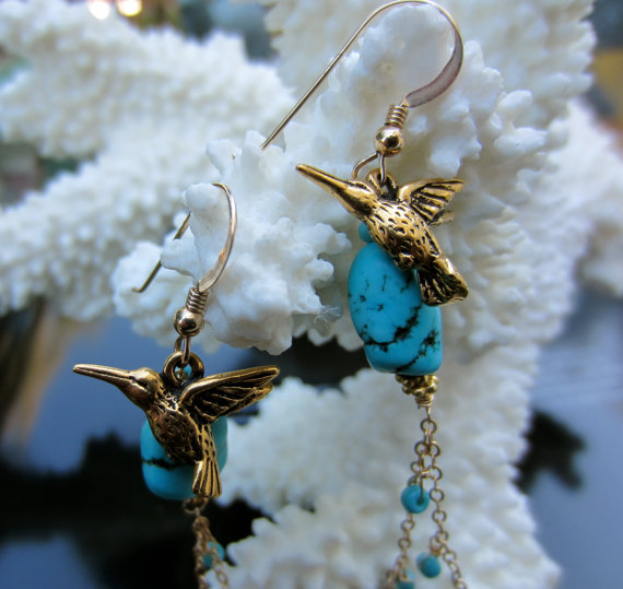 The VIP is officially in love with these hummingbird earrings!