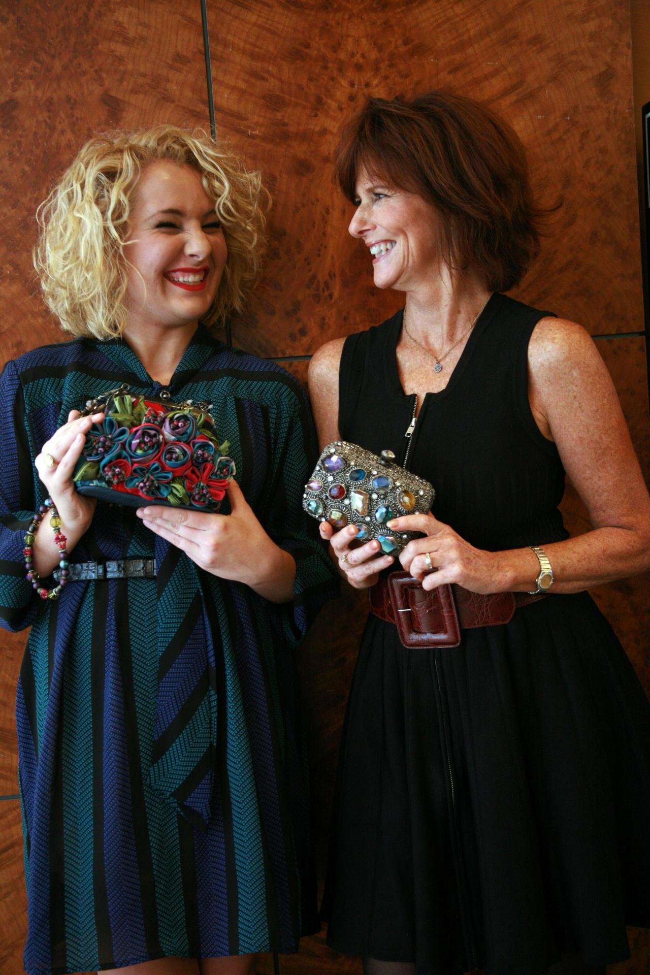 BLOOPER: Mary Frances and the VIP laughing in between posed shots. It was so much fun getting to hang out and interview Mary Frances at Belk Phipps in Atlanta!