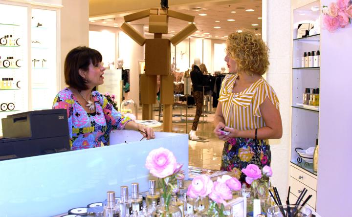 The VIP and Darla Osborne chatting at the event. Special thanks to Darla and Billy for helping me find some terrific signature scents! What will I decide on...who knows! I am waiting to hear back from the Birthday Fairy and Santa ;)