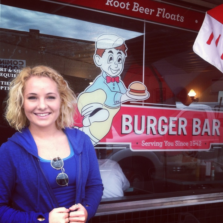 First snacking stop: Burger Bar in Bristol, VA. I could totally see myself working at this super cute burger joint!