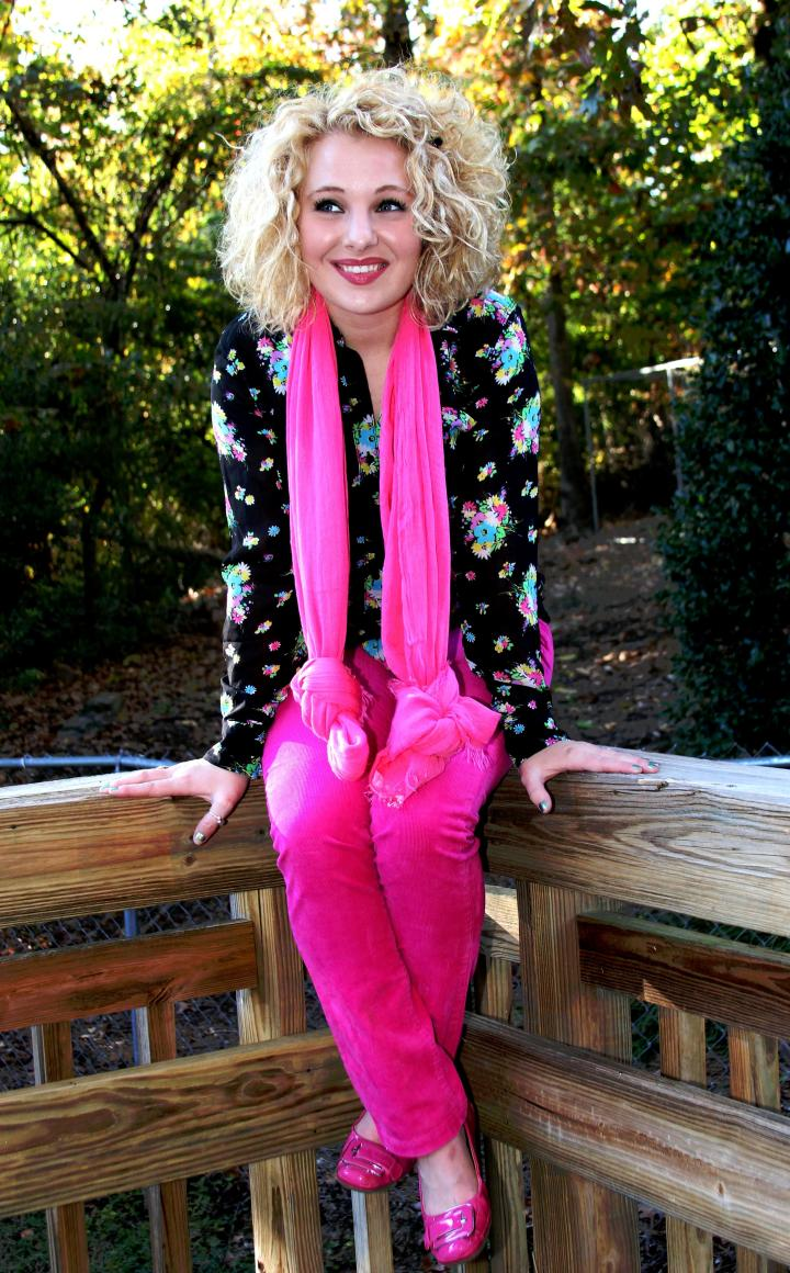"""To vote for outfit #2, please comment """"Cozy Cords and Floral"""" on this post or the VIP Facebook page."""