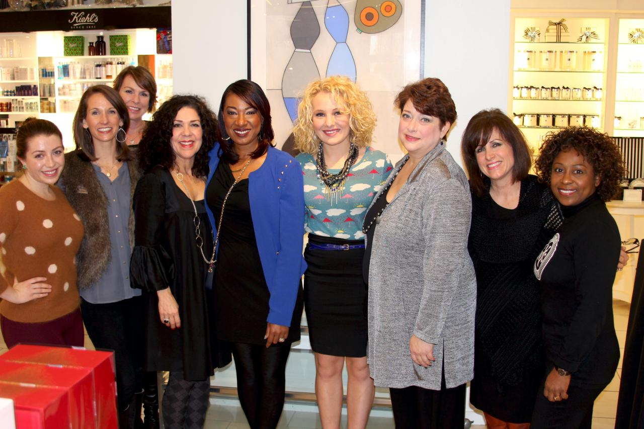 -From left to right- Laura (Southern Femme), Elizabeth Worrell (Saks Fifth Avenue), Amy Hughes (Chanel USA), LaGranda Lewis (Saks Fifth Avenue), The VIP, Tara (Creed fragrance expert at S5A), Darla Osborne (Fragrance at Jo Malone at S5A), and Judy R. Hatcher (Perfumista at Bond No. 9 at S5A)