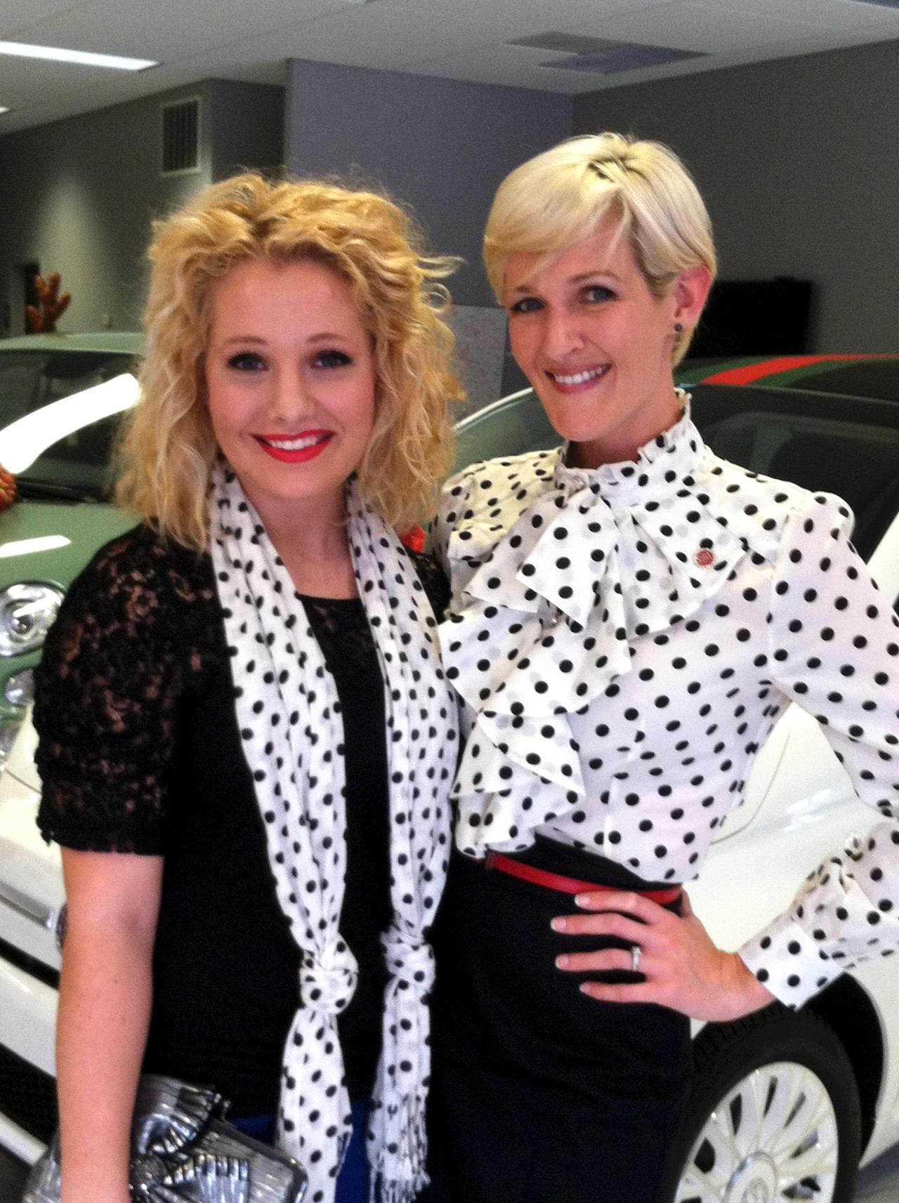The VIP and Fiat of Birmingham Director Kimberly Spitzer matched with out polka dots! Great minds think alike *wink*