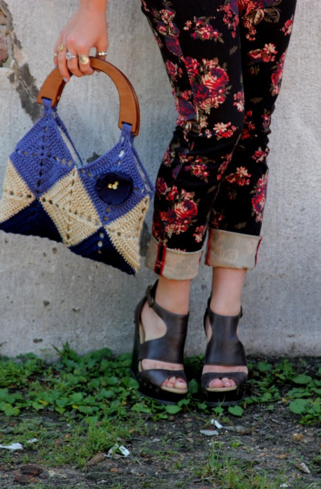 VIP sporting the Crochet Granny Squares Tan and Blue Bag, purse, handbag with organza flower available in the LaBelle Madeleine store here: https://www.etsy.com/listing/98121469/crochet-granny-squares-tan-and-blue-bag?ref=shop_home_active