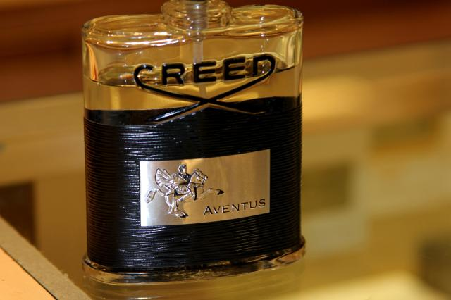 "This is what my future man will smell like. I am sure of it.  ""Aventus was inspired by Napoleon and was debuted in 2010. This is our best-selling men's fragrance here at Creed. It smells so good,"" said Tara as we chatted about Aventus."