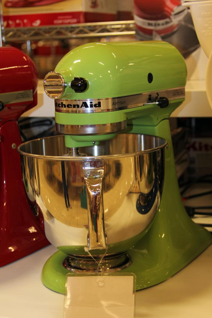 This lime green, Kitchen-Aid mixer is the perfect gift for my mom because she is learning to make tasty gluten free goodies! Sh! Don't tell her--I want it to be a surprise! :)