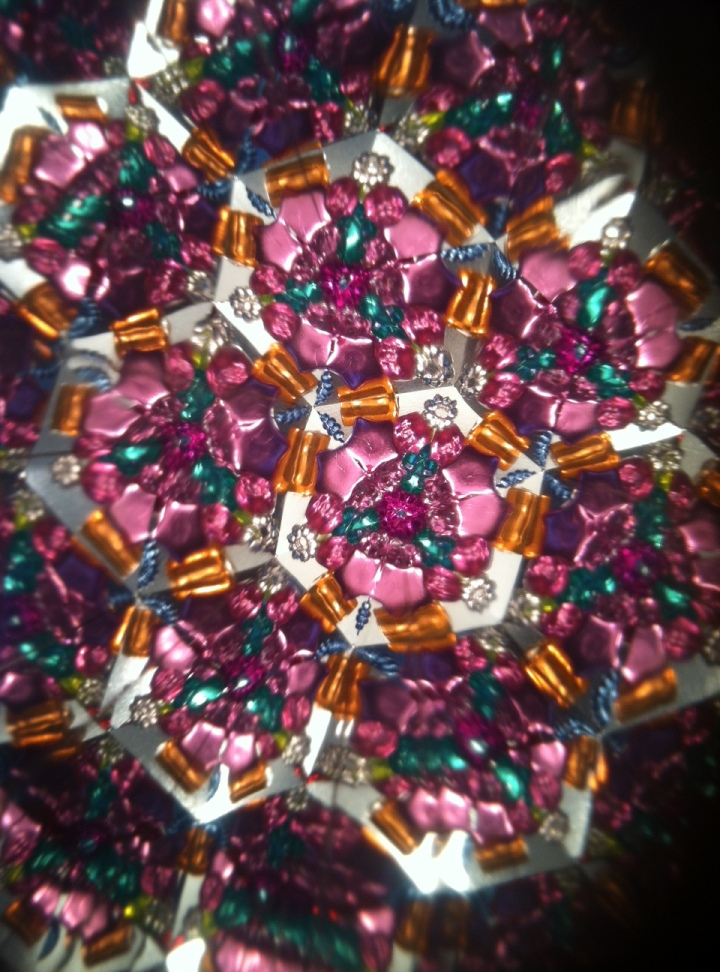 A peek inside of my awesome kaleidoscope! So colorful and inspiring!