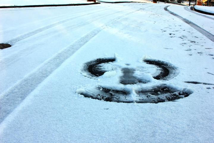 It is also not very wise for making snow angles in the street...but I live in the cul de sac...so, it's okay? Right?! *wink*