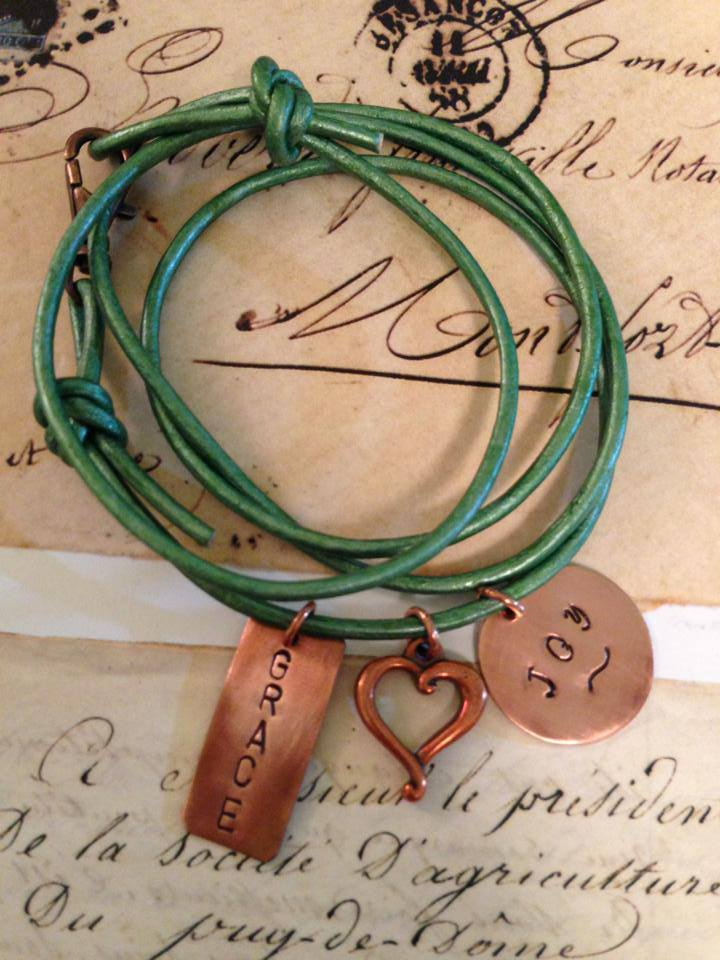 Hmmm maybe I need a green wrap bracelet to go along with my purple and silver ones *wink*