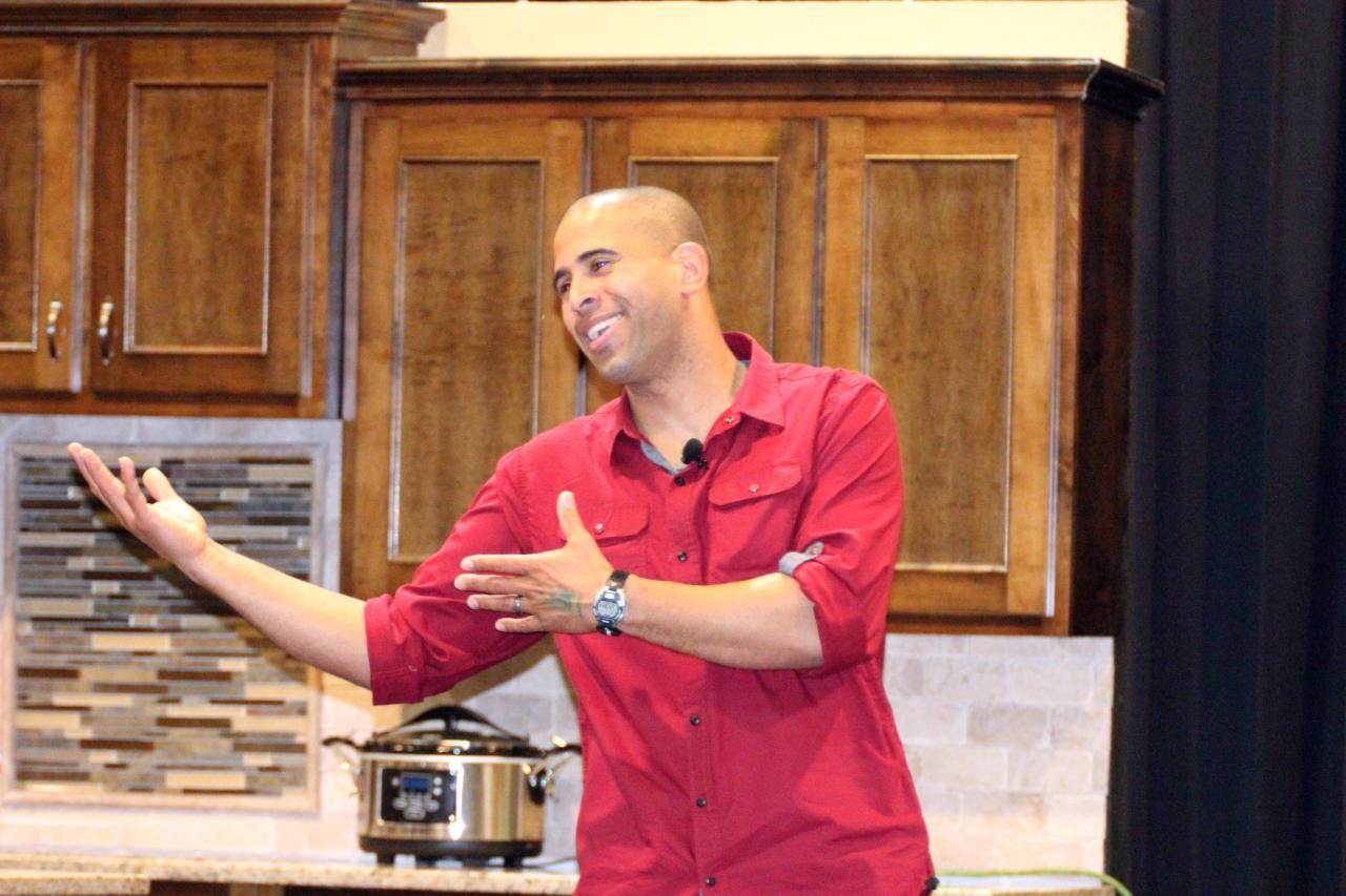 Ahmed Hassan giving his presentation at the Birmingham Home & Garden Show 2014.