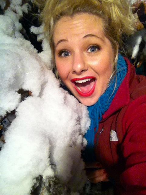 OH MY GAH. SNOW. *wink*