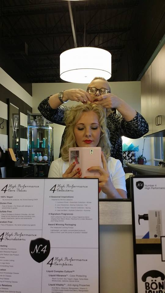 Independent salon owner Angela Watson at Salon Suites at the Colonnade giving the VIP some fabulous curly hair tips! Stay tuned to Beauty Tues next week to find out Angela's tips! Yay!