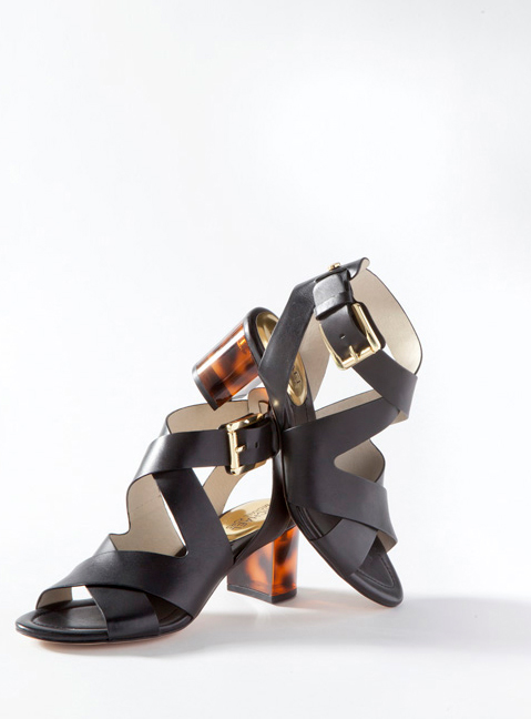 Chunky heels--Blocked, stacked, up high, down low! Get ready for sturdier, kinder heels that are easy on the feet and the eye--materials matter.